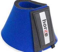 Campana-de-neopreno-HORZE-abierta-con-velcro--azul-M.