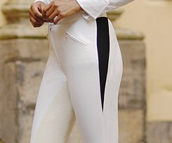 Isabell-Werth---Pantalon-Barcelona-blanco-algodon-con-culera-de-piel-T38